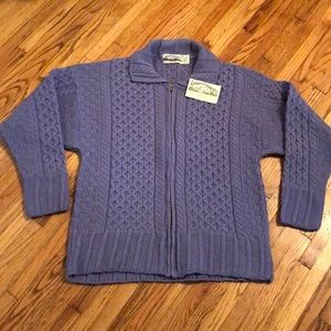 Aran Crafts Irish Wool Sweater NWT size Medium